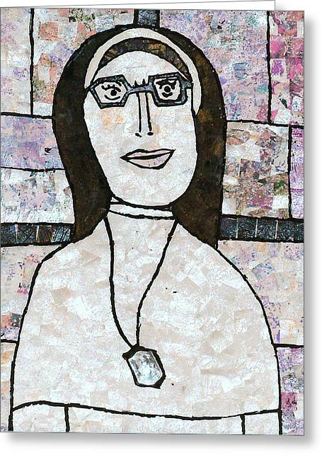 Religious Mosaic Mixed Media Greeting Cards - Sister Greeting Card by Carol Cole