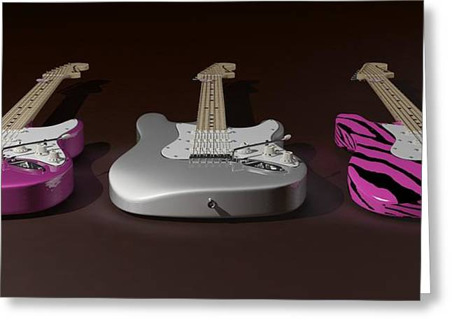 Sister What Have You Done To My Guitars Greeting Card by James Barnes