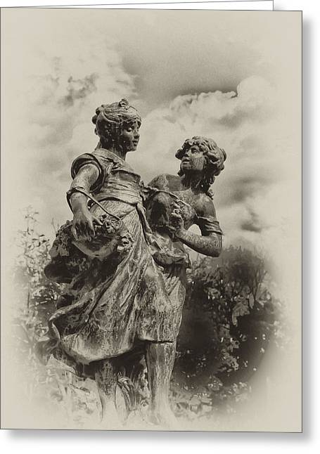 Sisters Greeting Card by Bill Cannon