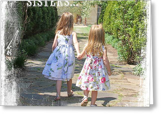 Family Love Greeting Cards - Sisters-Friend-JP3030A Greeting Card by Jean Plout