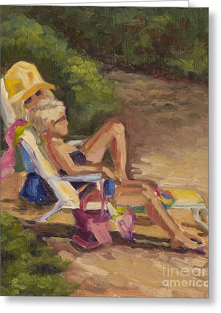 Print On Canvas Greeting Cards - Sisters Greeting Card by Julie Rumsey