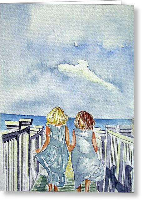 Sisters Greeting Card by Paul SANDILANDS