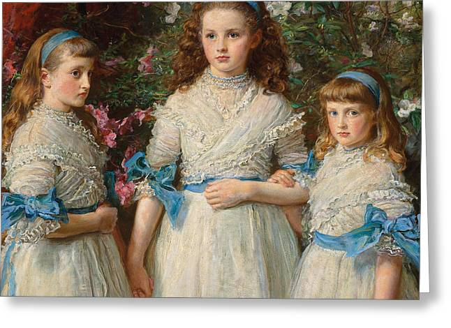 Sisters Greeting Card by Sir John Everett Millais