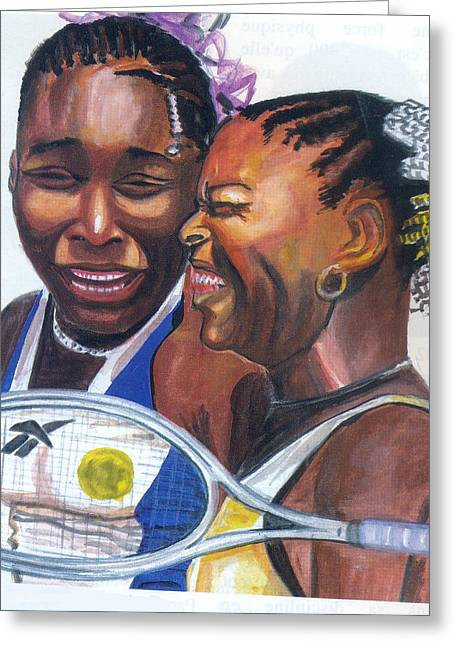 Sisters Williams Greeting Card by Emmanuel Baliyanga