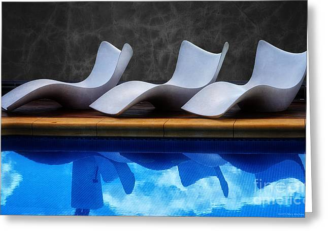 Lounge Digital Art Greeting Cards - Sit Beside Me 2- Triana Greeting Card by Mary Machare