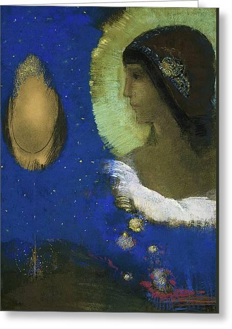 Sita Greeting Card by Odilon Redon