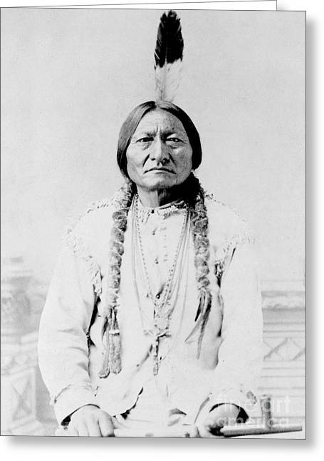 Sitting Bull, A Hunkpapa Lakota Tribal Greeting Card by Stocktrek Images