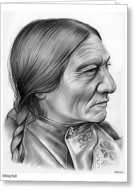 Sitting Bull Greeting Card by Greg Joens