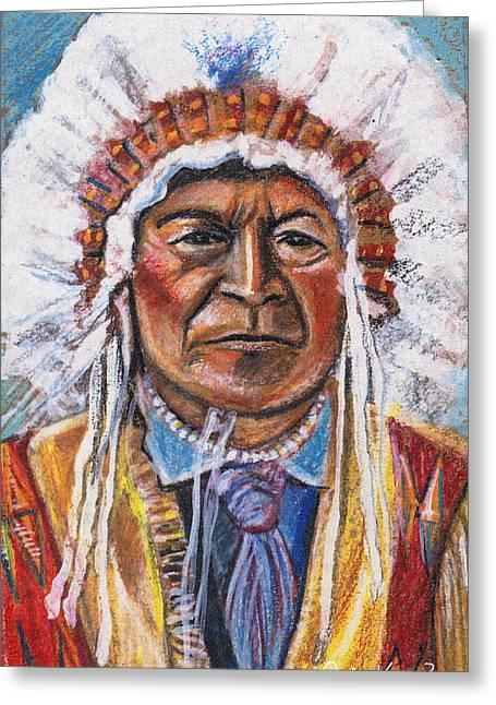 Sitting Bull Greeting Card by John Keaton