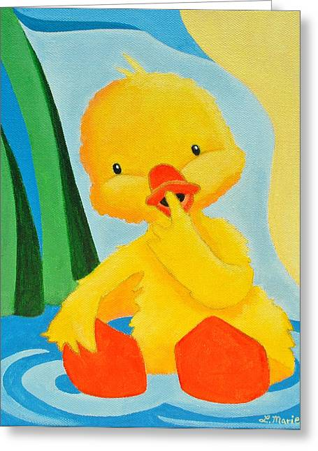 Sitting Ducks Greeting Cards - Sitting Duck Greeting Card by Lisa Marie