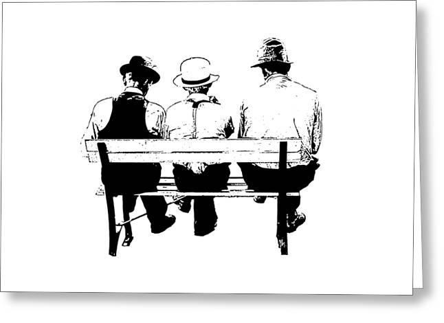Sitting On A Park Bench Greeting Card by Edward Fielding