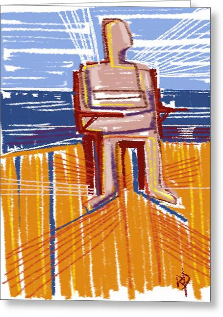 Esque Greeting Cards - Sitting on the Dock Greeting Card by Russell Pierce