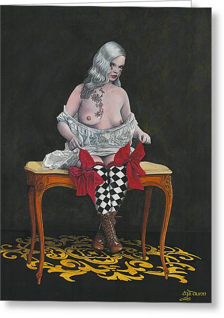 Female Body Greeting Cards - Sitting Pretty Greeting Card by TP Dunn