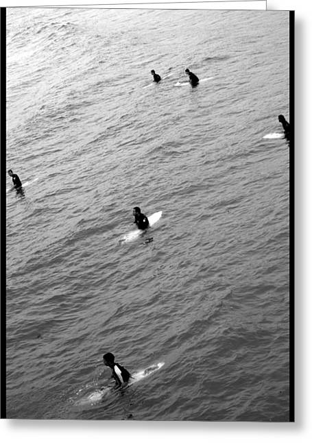 Best Sellers -  - Surfing Photos Greeting Cards - Sitting Waiting Wishing Greeting Card by Brad Scott