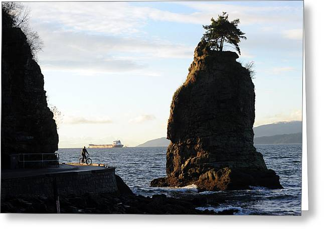 Stanley Park Greeting Cards - Siwash Rock Stanley Park III Greeting Card by Jason Evans