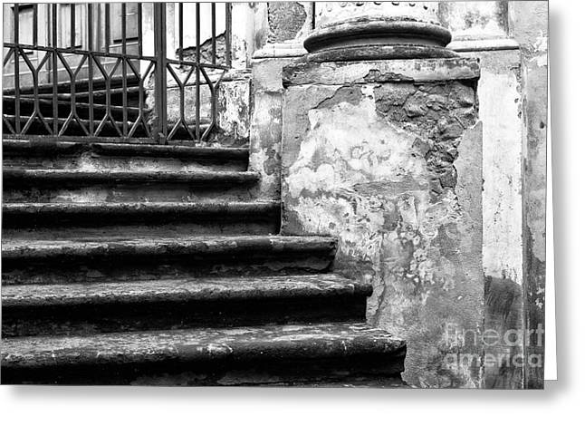 Stone Steps Greeting Cards - Six Steps in Naples Greeting Card by John Rizzuto