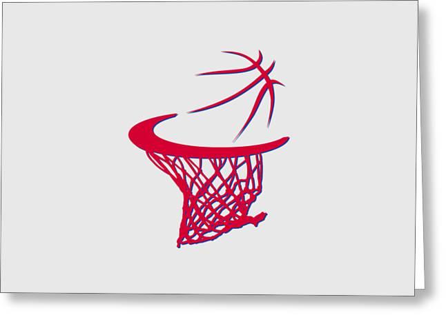 Basket Ball Greeting Cards - Sixers Basketball Hoop Greeting Card by Joe Hamilton
