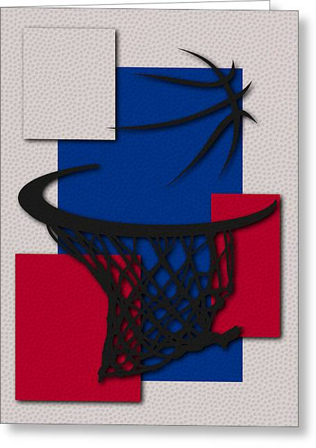 Sixers Greeting Cards - Sixers Hoop Greeting Card by Joe Hamilton