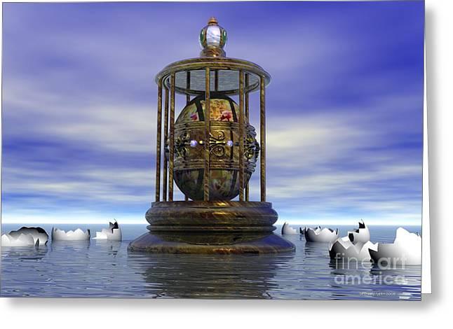 Fantasy World Greeting Cards - Sixth Sense - Surrealism Greeting Card by Sipo Liimatainen