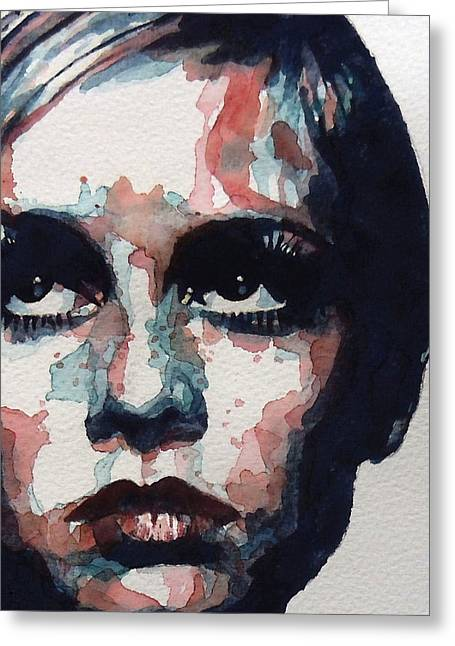 Sixties Greeting Cards - Sixties Sixties Sixties Twiggy Greeting Card by Paul Lovering