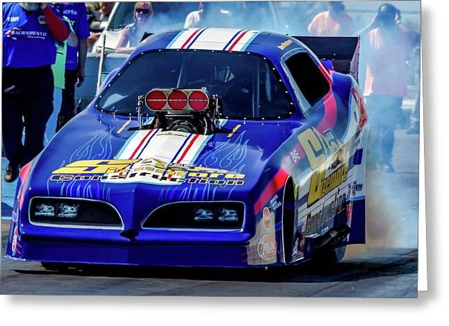 Sizemore Construction Pontiac Funny Car Greeting Card by Bill Gallagher