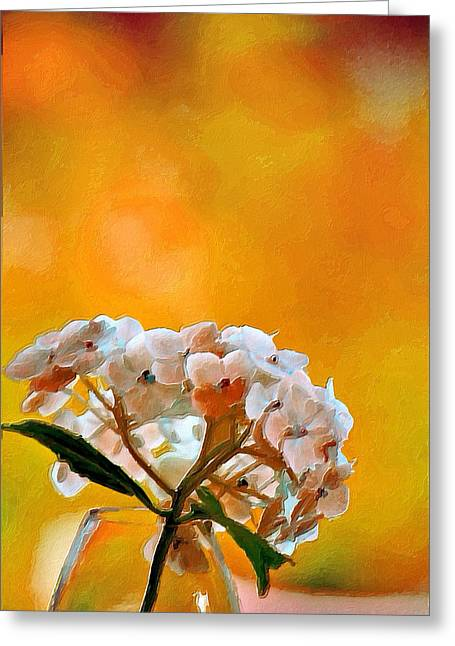 Vase Of Flowers Mixed Media Greeting Cards - Sizzling Summer  Greeting Card by Bonnie Bruno