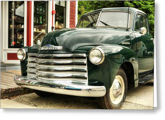 Classic Pickup Photographs Greeting Cards - Skagway Classic Greeting Card by Mel Steinhauer