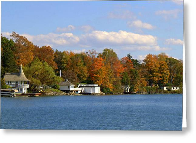 Skaneateles Greeting Cards - Skaneateles Lake in the Fall Greeting Card by Jennifer  Carter
