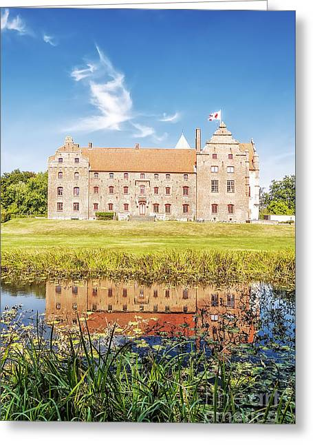 Historic Architecture Greeting Cards - Skarhult Castle Greeting Card by Antony McAulay