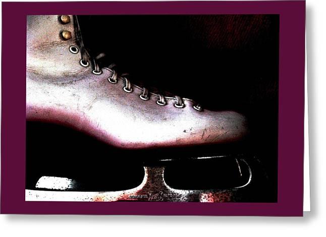 Ice-skating Greeting Cards - Skate On Greeting Card by Angela Davies