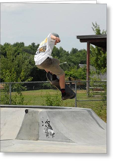 Skateboarding 18 Greeting Card by Joyce StJames