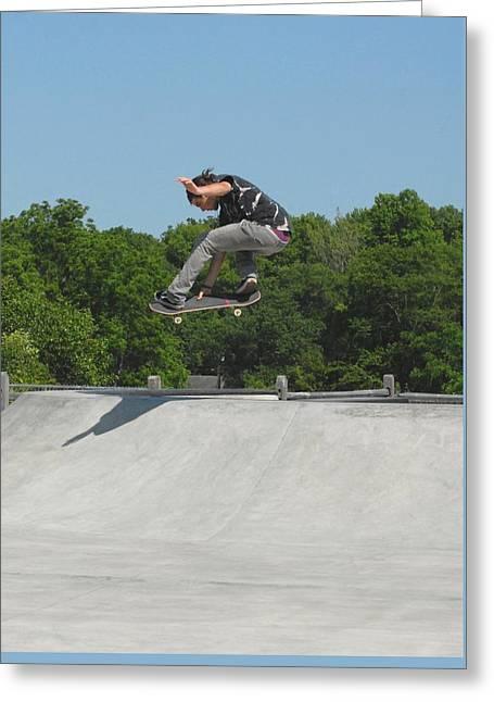 Skateboarding 19 Greeting Card by Joyce StJames