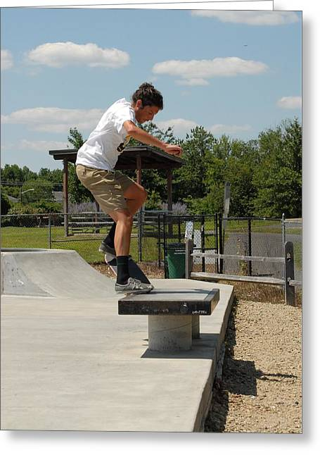 Skateboarding 23 Greeting Card by Joyce StJames
