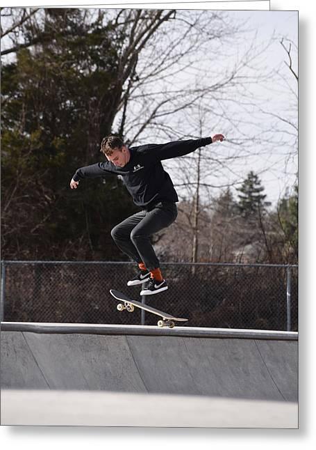 Skateboarding 25 Greeting Card by Joyce StJames
