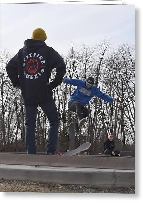 Skateboarding 29 Greeting Card by Joyce StJames