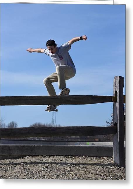 Skateboarding 31 Greeting Card by Joyce StJames