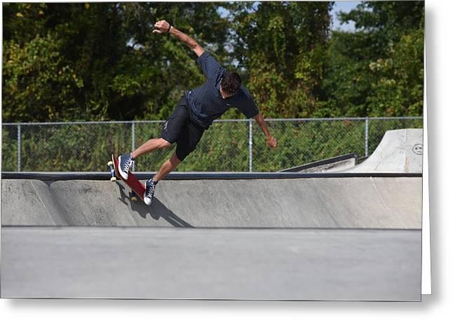 Skateboarding 36 Greeting Card by Joyce StJames