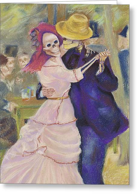 Bougival Greeting Cards - Skelly Dance at Bougival Greeting Card by Marie  Marfia