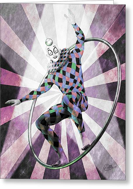 Jester Mixed Media Greeting Cards - Sketch By Quim Abella Greeting Card by Joaquin Abella