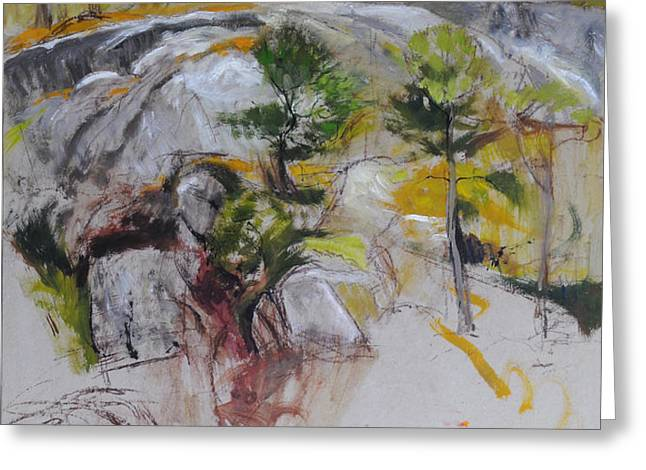Sketch for Ogwen painting Greeting Card by Harry Robertson