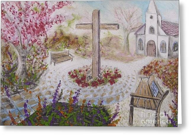 Religious Paintings Greeting Cards - Sketch of Old Church Greeting Card by Scott Phillips