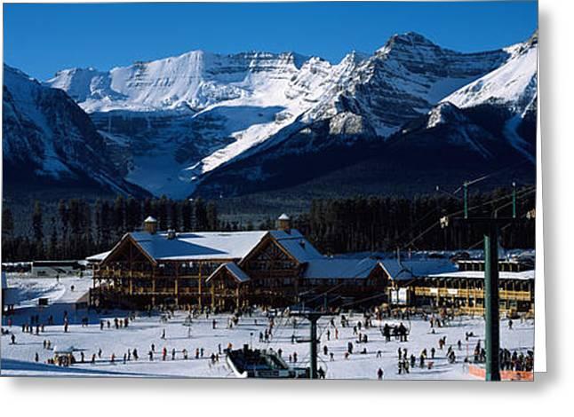 Ski Resort Banff National Park Alberta Greeting Card by Panoramic Images
