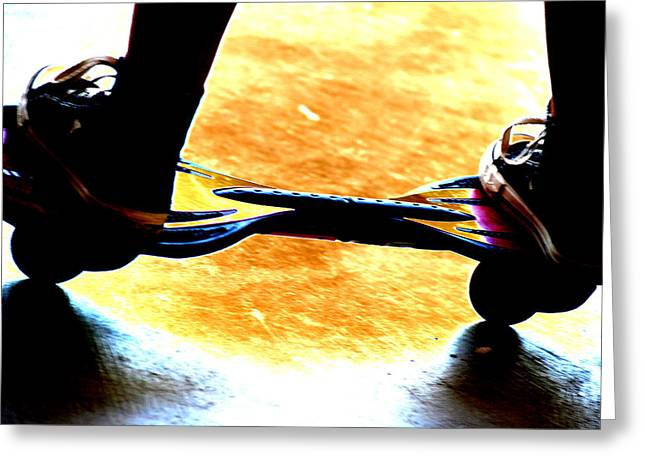Roller Skates Digital Art Greeting Cards - Skill and Agility Greeting Card by Peter  McIntosh