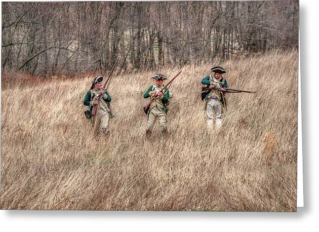 Skirmish Line Greeting Card by Randy Steele
