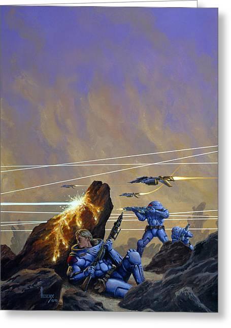 Skirmishers  Greeting Card by Richard Hescox