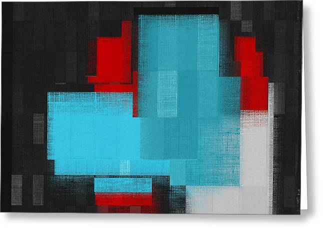 Red Abstracts Greeting Cards - Skouarios 02a - j036103206 Greeting Card by Variance Collections