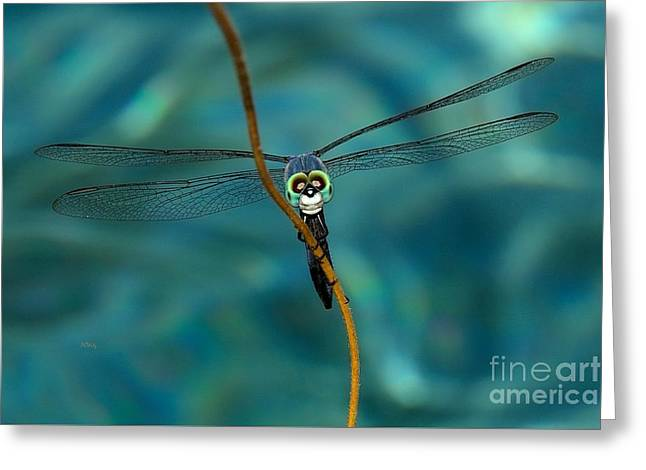 Purchase Greeting Cards - Skull Face the Dragonfly Greeting Card by Patrick Witz