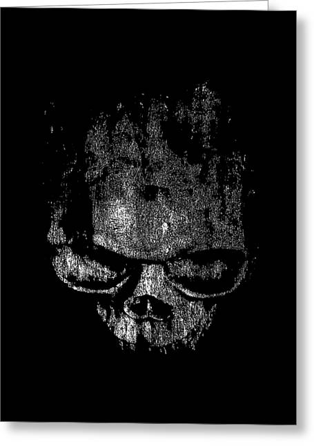 Ghoul Greeting Cards - Skull Graphic Greeting Card by Edward Fielding