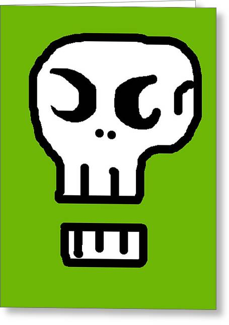 Character Portraits Greeting Cards - Skull Greeting Card by Jera Sky