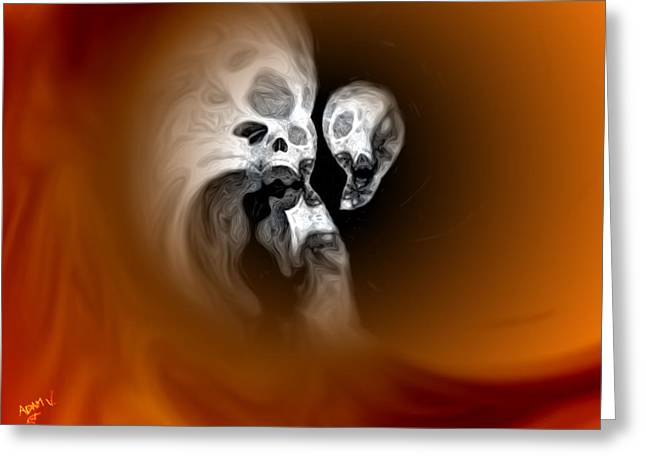 Skull Scope 2 Greeting Card by Adam Vance